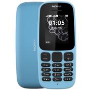 诺基亚 新105蓝色直板按键移动联通2G手机双卡双待老人手机学生备用功能机
