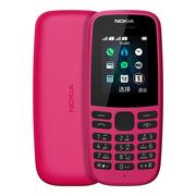 诺基亚 105新红色直板按键移动联通2G手机双卡双待老人手机学生备用功能机