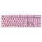 雷柏 V500PRO冰激凌粉、清冽紫背光游戏机械键盘产品图片1